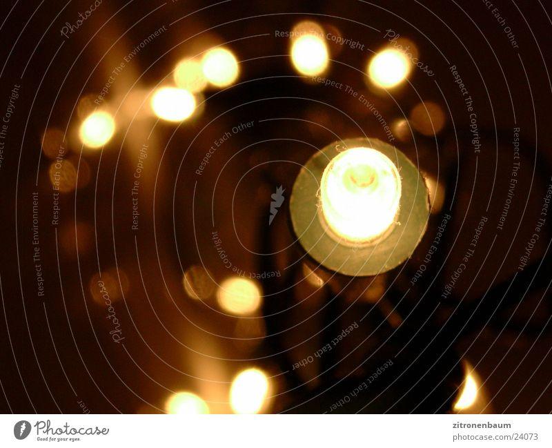 lichte Lichter Unschärfe Lampe Lichterkette Häusliches Leben