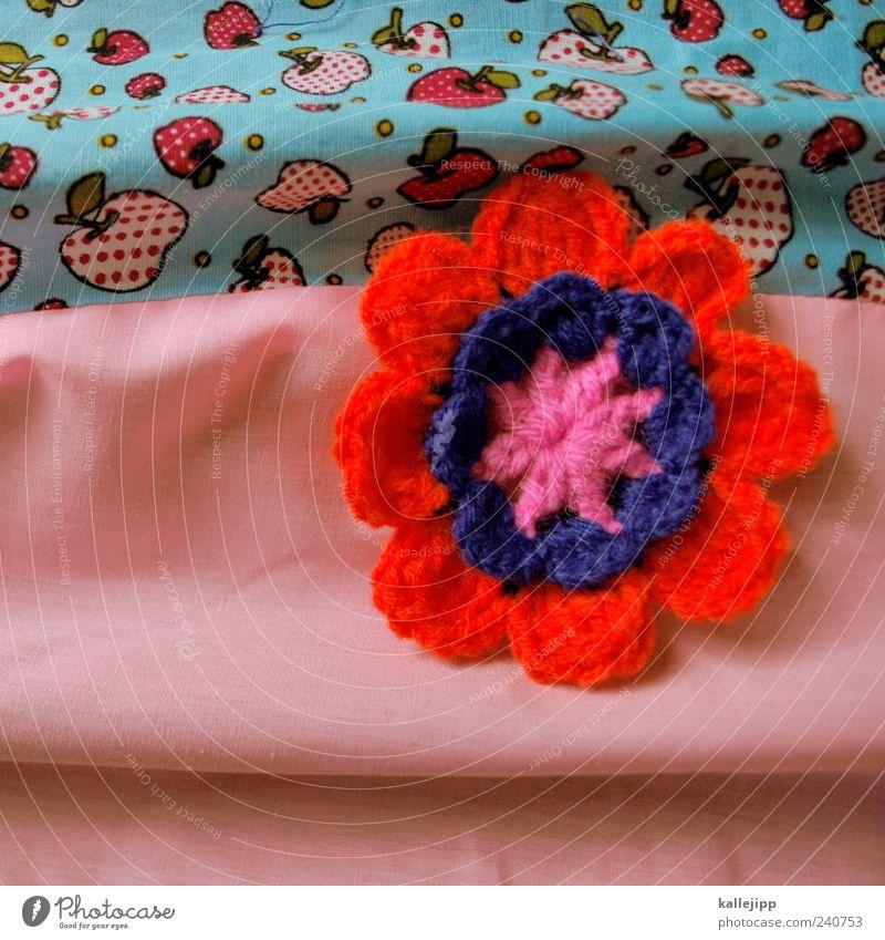 das spül ich nur mit pril Pflanze Blume Blatt Blüte Stoff Apfel Blühend Erdbeeren mehrfarbig Composing Muster Menschenleer gehäkelt