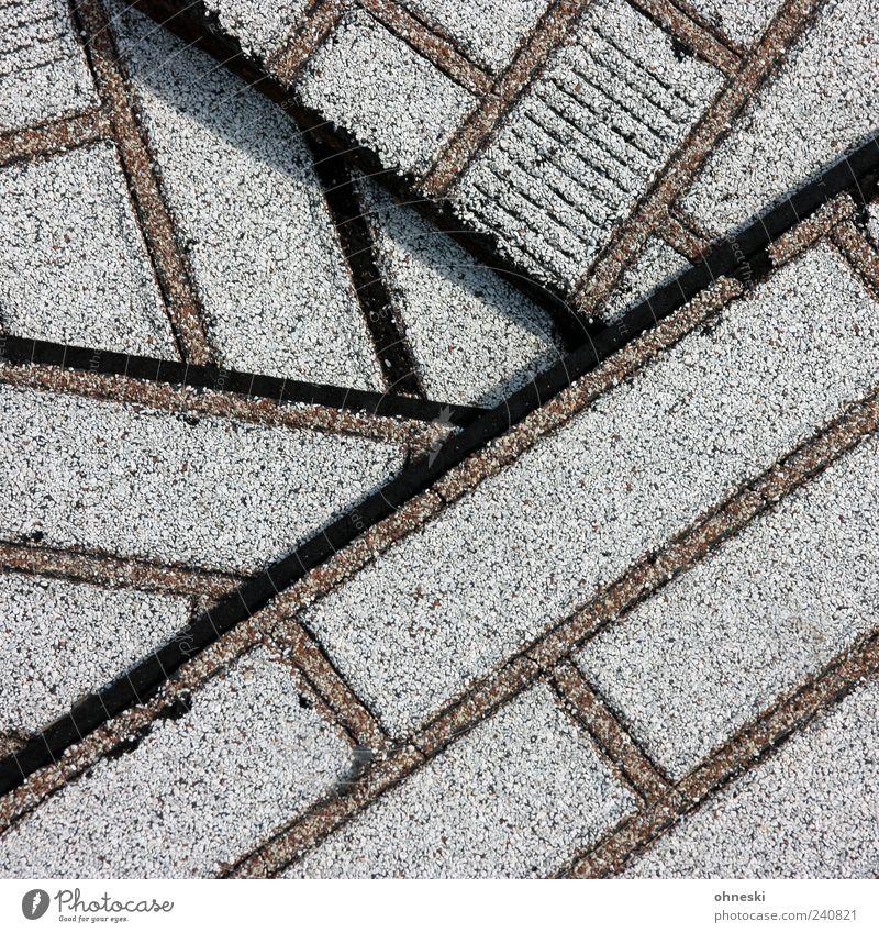 Klinkerbau Renovieren Wandverkleidung Backstein Fuge Stein Kunststoff Linie imitieren grau Stapel Fälschung Farbfoto Gedeckte Farben Außenaufnahme abstrakt