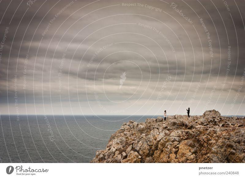 'Cheeese' Mensch Natur Ferien & Urlaub & Reisen Sommer Freude Ferne Umwelt Landschaft Gefühle Küste Glück Horizont Wetter Felsen Klima Freizeit & Hobby