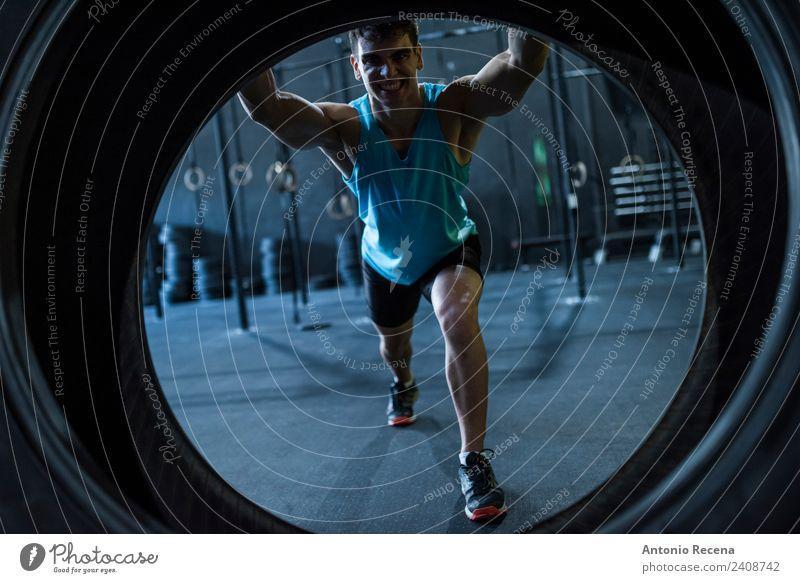 Mensch Mann Erwachsene Sport Arbeit & Erwerbstätigkeit Kraft Fitness stark Körperpflege Sport-Training Rad Club anstrengen Disco Muskulatur üben