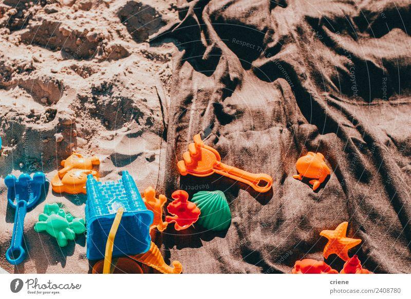 Natur Sommer blau schön grün Freude Strand Sand Kindheit Spielzeug