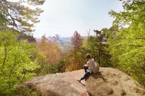 carolafelsen Ferien & Urlaub & Reisen Tourismus Ausflug Abenteuer Ferne Freiheit Sommer Berge u. Gebirge wandern Kind 1 Mensch 13-18 Jahre Jugendliche Umwelt