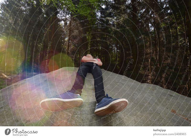Teenager macht eine Pause in der Natur Freizeit & Hobby Ferien & Urlaub & Reisen Tourismus Ausflug Abenteuer Ferne Berge u. Gebirge wandern Fitness