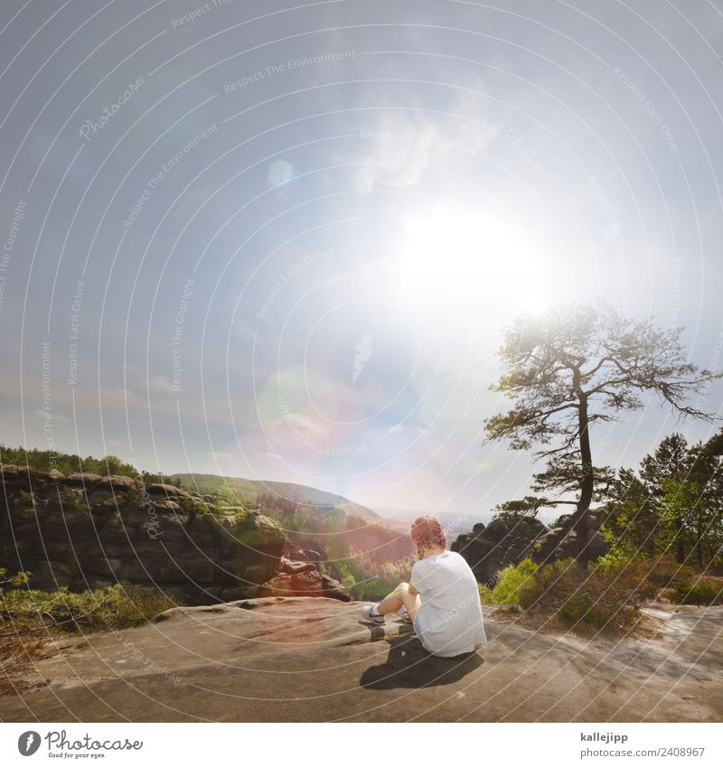 affenfelsen Freizeit & Hobby Ferien & Urlaub & Reisen Tourismus Ausflug Abenteuer Ferne Freiheit Sommer Sonne wandern feminin Kind Mädchen 1 Mensch Umwelt Natur