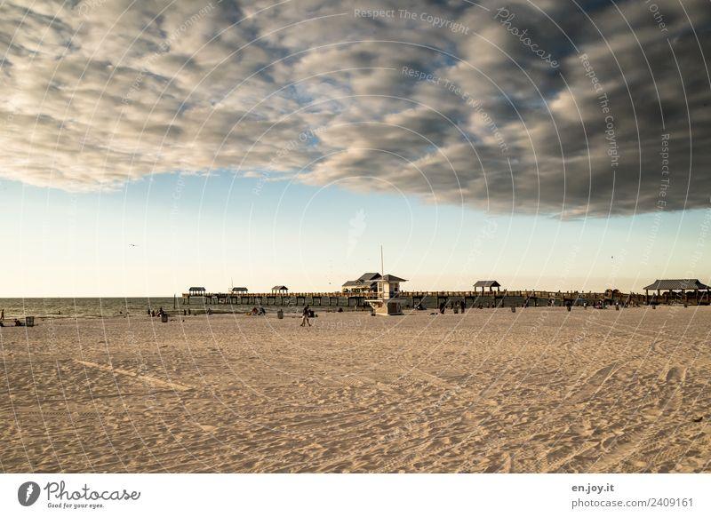 Wetterumschwung Freizeit & Hobby Ferien & Urlaub & Reisen Tourismus Ausflug Ferne Sommer Sommerurlaub Strand Meer Landschaft Urelemente Gewitterwolken Horizont