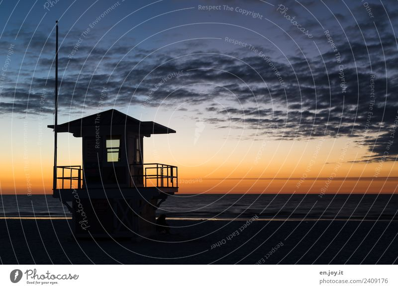 Baywatch Ferien & Urlaub & Reisen Tourismus Ferne Sommer Sommerurlaub Strand Meer Himmel Horizont Sonnenaufgang Sonnenuntergang Florida USA Amerika Nordamerika