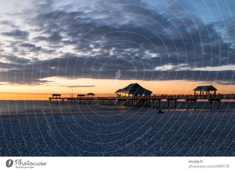 Pier 60 Ferien & Urlaub & Reisen Tourismus Sommer Sommerurlaub Strand Meer Himmel Wolken Nachthimmel Horizont Clearwater Beach Florida USA Amerika Nordamerika