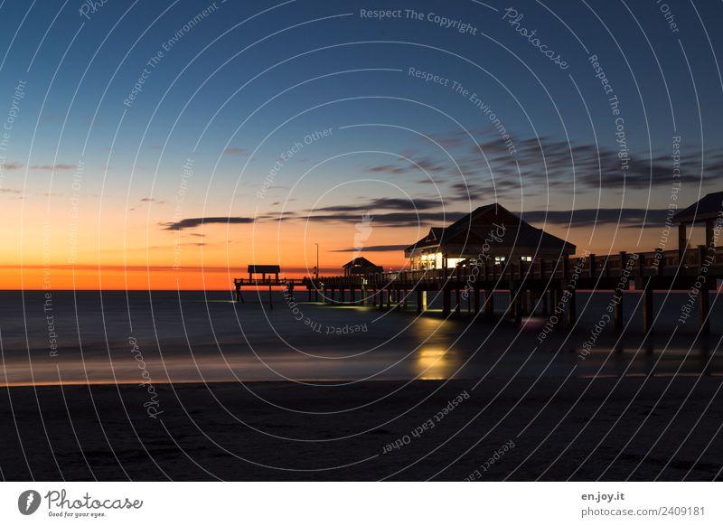 Pier 60 Ferien & Urlaub & Reisen Tourismus Ausflug Sommer Sommerurlaub Strand Meer Landschaft Nachthimmel Horizont Sonnenaufgang Sonnenuntergang Clearwater