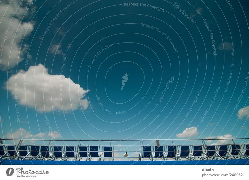 chill out area pt.2 Himmel blau Ferien & Urlaub & Reisen Sommer Wolken Erholung Wasserfahrzeug Tourismus leer Pause viele Schönes Wetter Schifffahrt