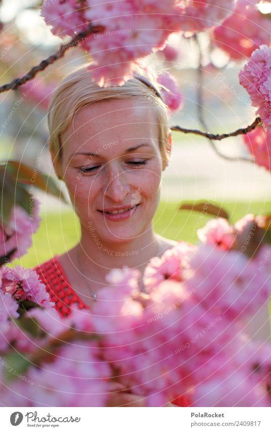 #A# Frühlingsduft Kunst ästhetisch Natur Naturliebe Naturerlebnis Frühlingsgefühle Frühlingstag Frühlingsfest rosa Kirschblüten Kirschblütenfest Frauengesicht
