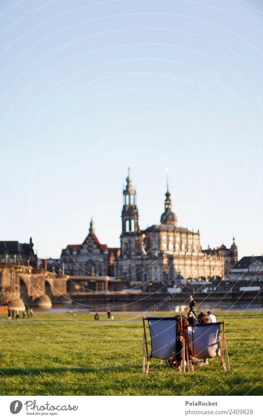 #A# Frühling in Dresden Sehenswürdigkeit ästhetisch weltoffen Elbufer Sachsen Erholung Freizeit & Hobby Feiertag Hofkirche Dresden Augustusbrücke Altstadt