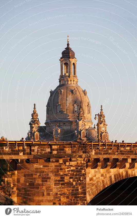 #A# Dresdner Dame Kunst Kunstwerk ästhetisch Dresden Elbufer Sachsen Deutschland Sehenswürdigkeit Städtereise Dach Kuppeldach Frauenkirche Barock Barockstadt