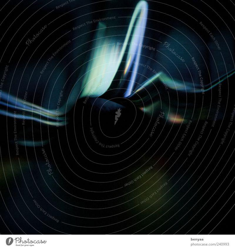 bläulich blau Wasser dunkel Linie außergewöhnlich weich Kunststoff Flüssigkeit abstrakt Lichtspiel Erscheinung Lichtschein Lichteinfall bläulich