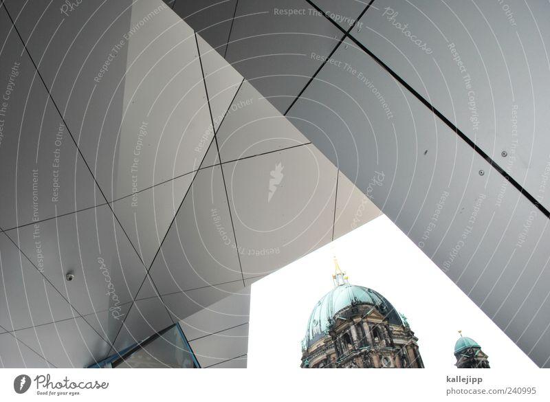 reformation alt Wand Berlin Architektur Religion & Glaube Mauer Metall Linie Kirche neu Bauwerk Dom Christentum Sightseeing Klassische Moderne Kuppeldach