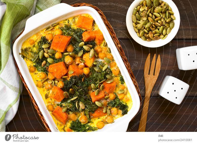 Speise Gesundheit Gemüse Mahlzeit Vegetarische Ernährung horizontal Kürbis Saucen gebastelt Puls Kichererbsen