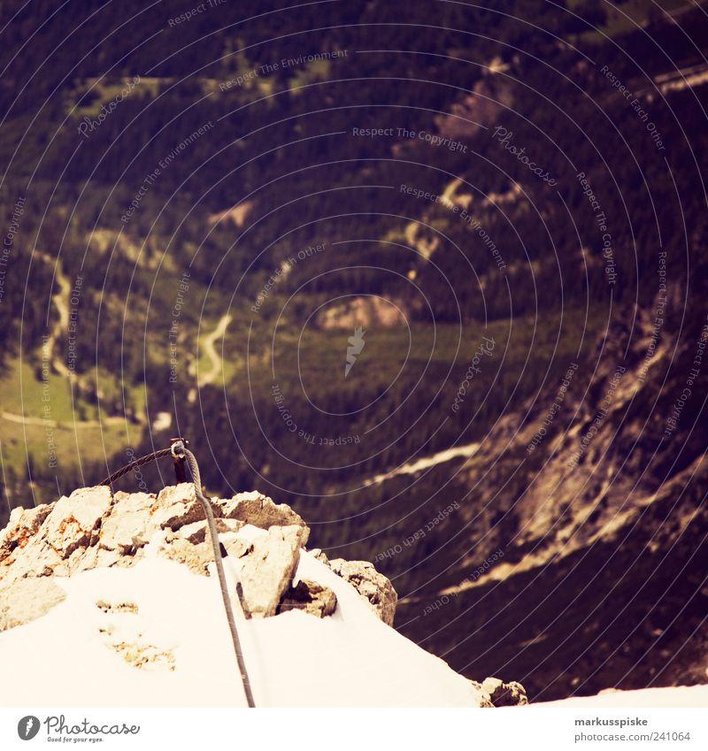 seilschaft Ferien & Urlaub & Reisen Sommer Ferne Berge u. Gebirge Freiheit Felsen Ausflug Tourismus Seil Alpen Gipfel Klettern Unendlichkeit Bergsteigen Gletscher Expedition