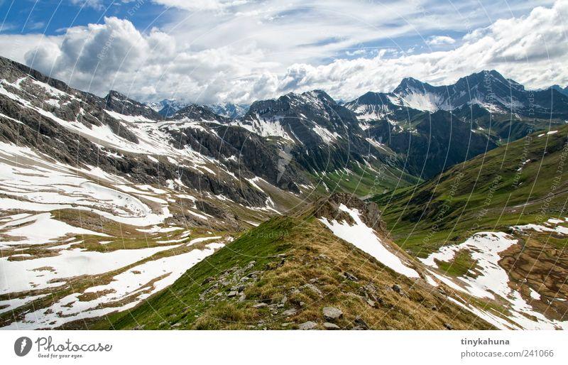 Kaisertal Himmel Natur blau Ferien & Urlaub & Reisen grün Sommer Wolken ruhig Ferne Landschaft Schnee Berge u. Gebirge oben Freiheit Horizont hoch