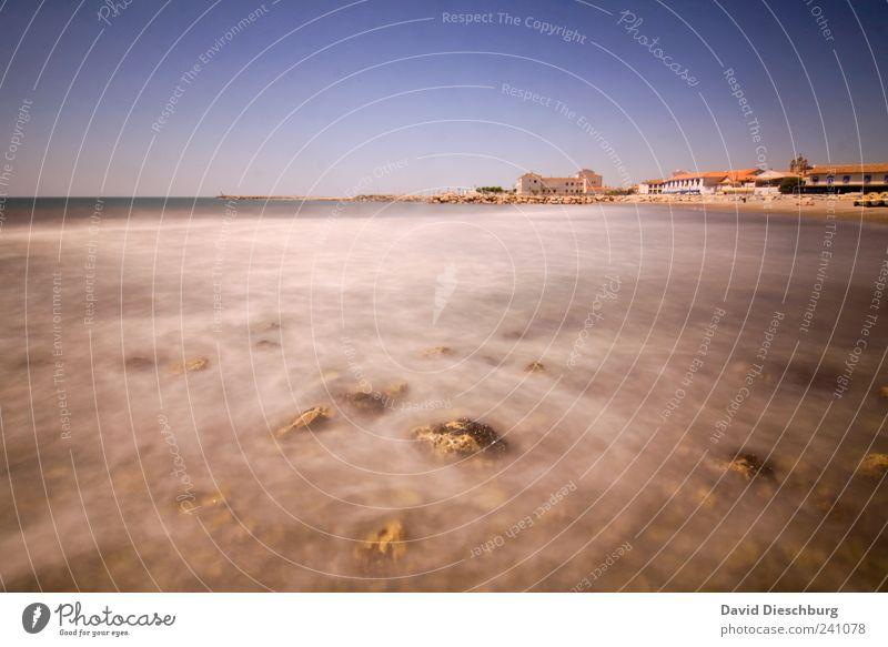 Was will man meer... Himmel blau Wasser Ferien & Urlaub & Reisen Sommer Meer Strand Haus Landschaft Küste Horizont braun Wellen Insel Schönes Wetter