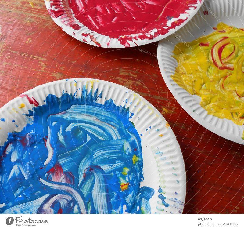 cyan magenta yellow blau weiß rot gelb Farbstoff Kunst dreckig wild ästhetisch Dekoration & Verzierung einzigartig malen Idee Flüssigkeit Lebensfreude Begeisterung