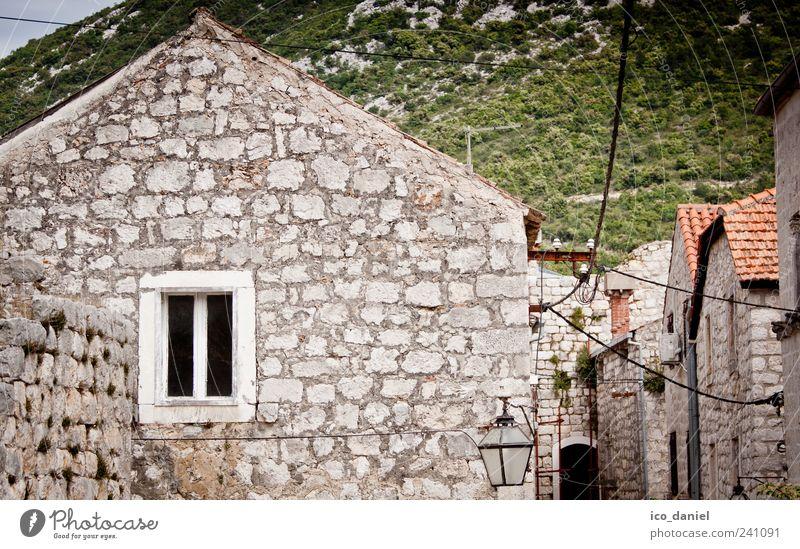 Ston in Kroatien Ferien & Urlaub & Reisen grün schön Sommer Freude Haus Fenster Wand Architektur Mauer Stil braun Ausflug Tourismus Bauwerk Dorf