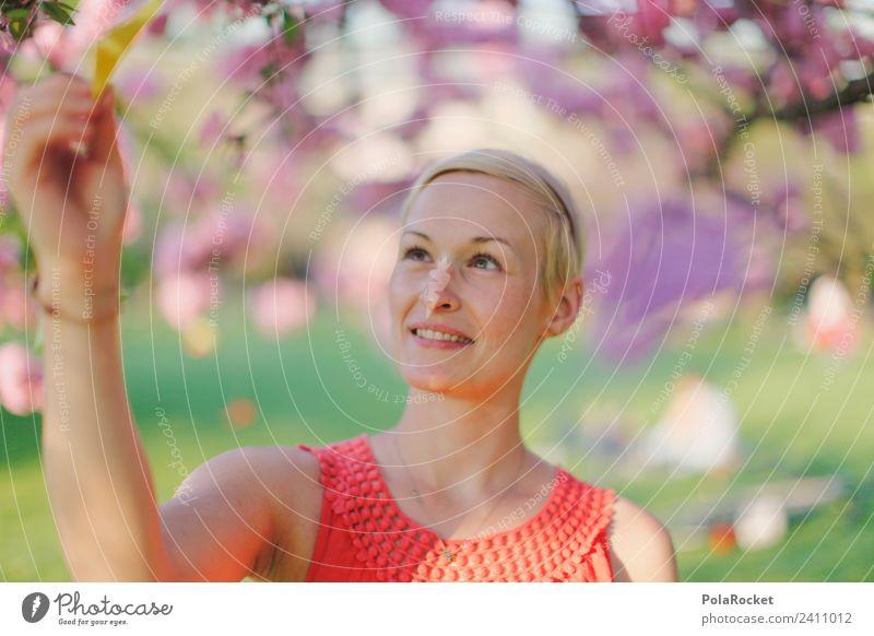 #A# Frühlingsreise Kunst ästhetisch Frühlingsgefühle Frühlingstag Frühlingsfarbe Frühlingsfest Außenaufnahme entdecken Frau Frauengesicht rosa rosarote Brille