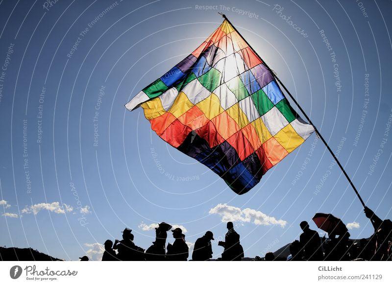Arco Iris - Regenbogen der Indigenen Ferien & Urlaub & Reisen Tourismus Ausflug Abenteuer Ferne Freiheit Feste & Feiern Mensch Menschenmenge ästhetisch