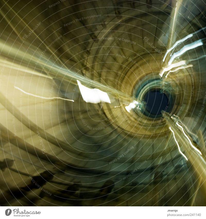 Warp dunkel Bewegung Innenarchitektur außergewöhnlich Treppe Perspektive Zukunft Coolness rund Ewigkeit Treppengeländer Treppenhaus chaotisch aufsteigen