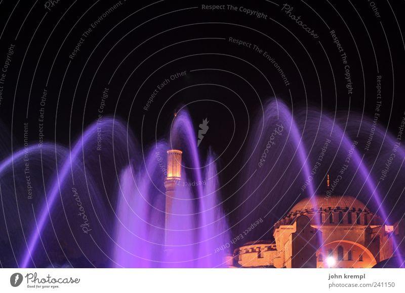 souldoctor rot Architektur Gebäude Religion & Glaube Beleuchtung ästhetisch Kirche Hoffnung Romantik Bauwerk Brunnen violett Denkmal historisch
