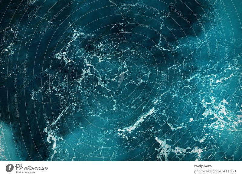 tiefblaue Meerwasserstruktur schön Erholung Ferien & Urlaub & Reisen Sommer Natur Wasser Bewegung glänzend frisch hell nass natürlich Sauberkeit türkis Farbe