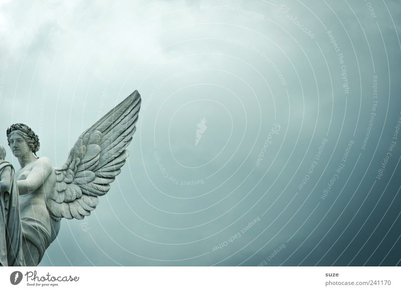 Engel Sightseeing Städtereise Kunst Skulptur Kultur Himmel Wolken Sehenswürdigkeit Wahrzeichen Denkmal Flügel ästhetisch historisch blau Schutz Glaube