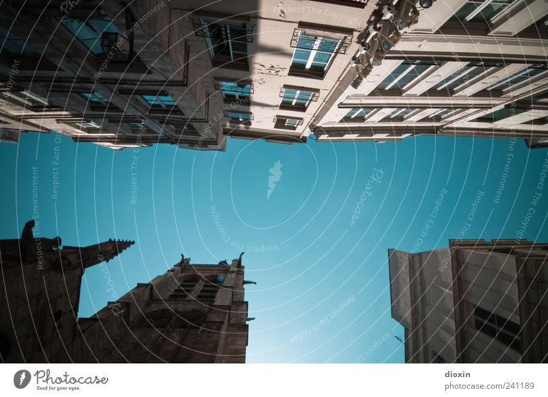 Paris Summer alt Himmel Stadt Ferien & Urlaub & Reisen Haus Wand Fenster Mauer Gebäude Architektur hoch Fassade Europa Tourismus Kirche