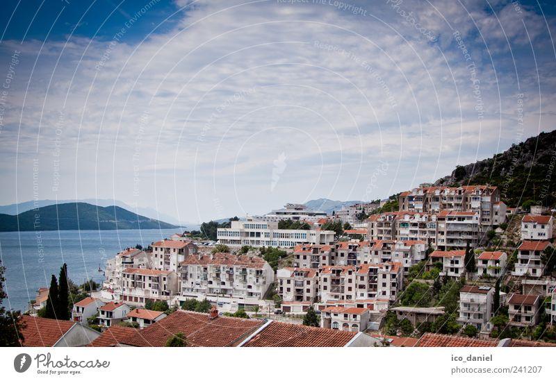 Neum in Bosnien und Herzegowina blau Wasser Ferien & Urlaub & Reisen Stadt Meer Wolken Haus Berge u. Gebirge braun Wohnung Ausflug Tourismus Europa