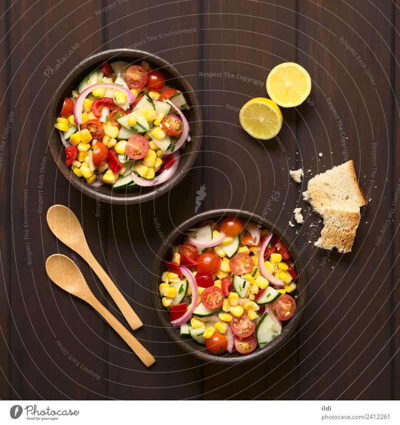 Gesundheit frisch Gemüse Mahlzeit Vegetarische Ernährung Salatbeilage Tomate Zitrone rustikal roh Snack Zwiebel Schnittlauch