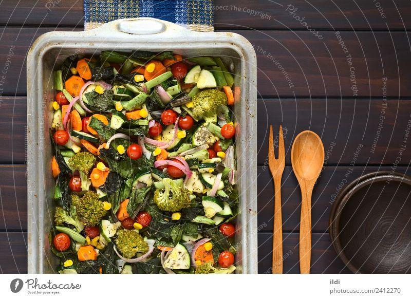 Speise frisch Kräuter & Gewürze Gemüse Mahlzeit Seite Tomate horizontal rustikal Möhre Bohnen Zwiebel Brokkoli gebastelt Zucchini Mangold