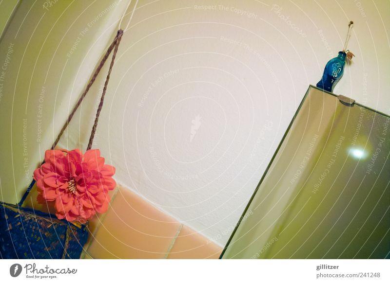 60er Jahre-Bad Häusliches Leben Wohnung Dekoration & Verzierung Spiegel Fröhlichkeit Glück Kitsch klein niedlich positiv Farbe Nostalgie Zufriedenheit Farbfoto