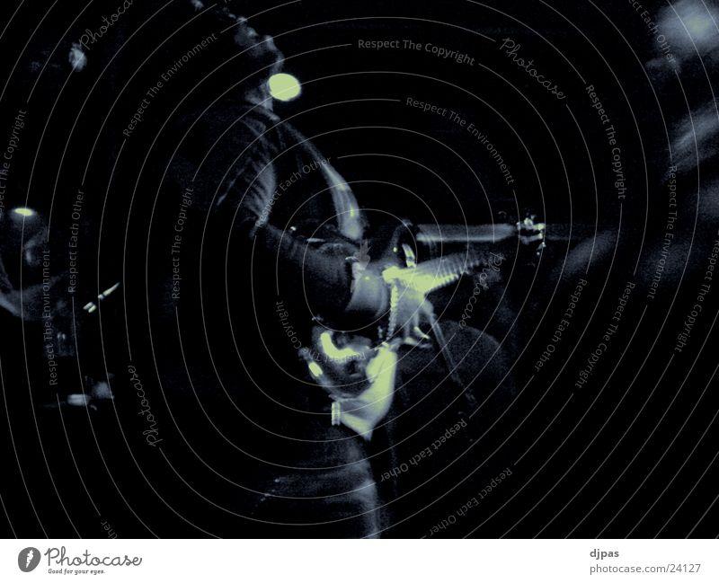 O.G (original gitarrist) Mann schwarz Musik Konzert Filter