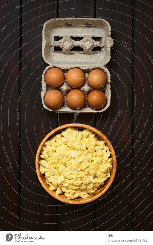 Speise frisch kochen & garen Frühstück Mahlzeit Salatbeilage vertikal geschnitten rustikal Schachtel roh Zutaten Snack Protein gebastelt Mayonnaise