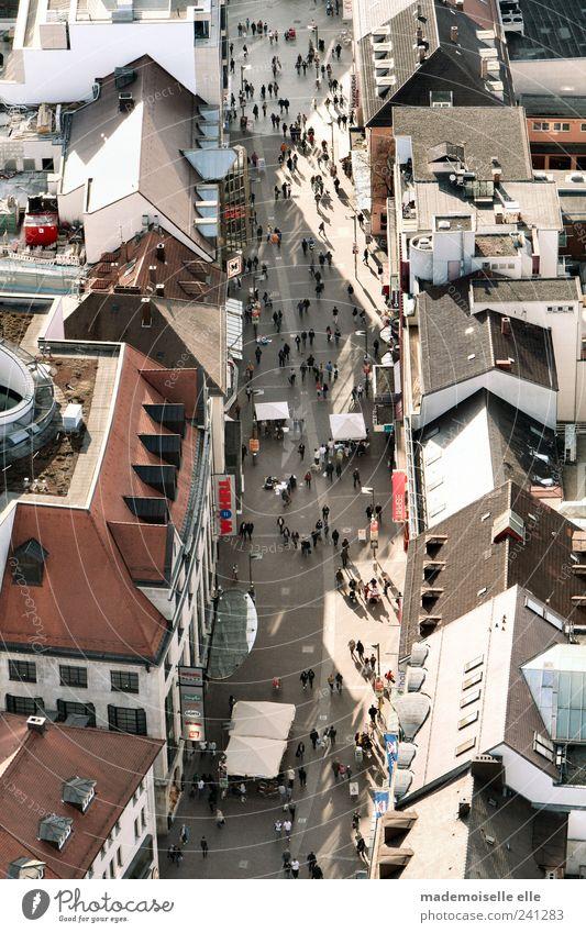 Ameisenstraße Ferien & Urlaub & Reisen Tourismus Ausflug Sightseeing Städtereise Sommer Restaurant ausgehen Mensch Menschenmenge Ulm Kleinstadt Haus
