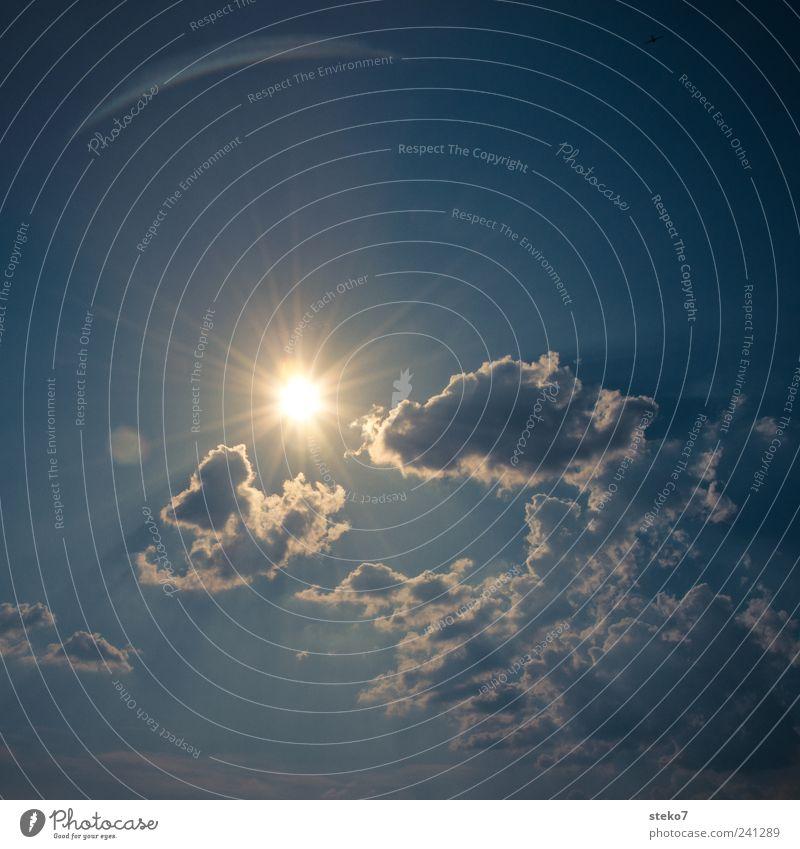 es wird heiß Sonne blau Sommer Wolken Wärme heiß nur Himmel