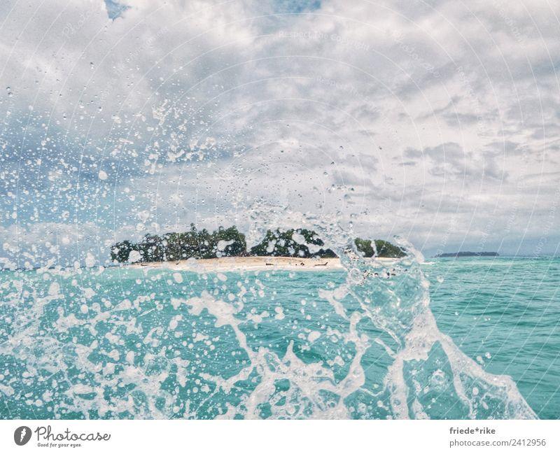 la Isla bonita Schwimmen & Baden Segeln Landschaft Urelemente Erde Sand Luft Wasser Wassertropfen Himmel Wolken Horizont Sommer Wetter Urwald Küste Strand Meer