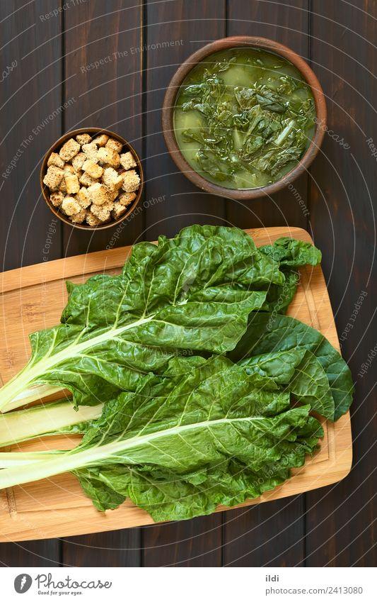 Speise frisch Gemüse Mahlzeit Vegetarische Ernährung vertikal Vegane Ernährung rustikal roh Suppe backen Eintopf Mangold