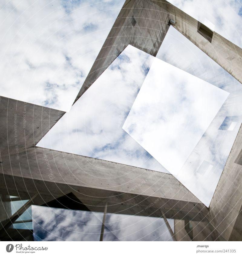 Q Himmel Wolken Stil Gebäude Architektur planen Design elegant Fassade Lifestyle Perspektive Coolness Wandel & Veränderung Baustelle einzigartig außergewöhnlich