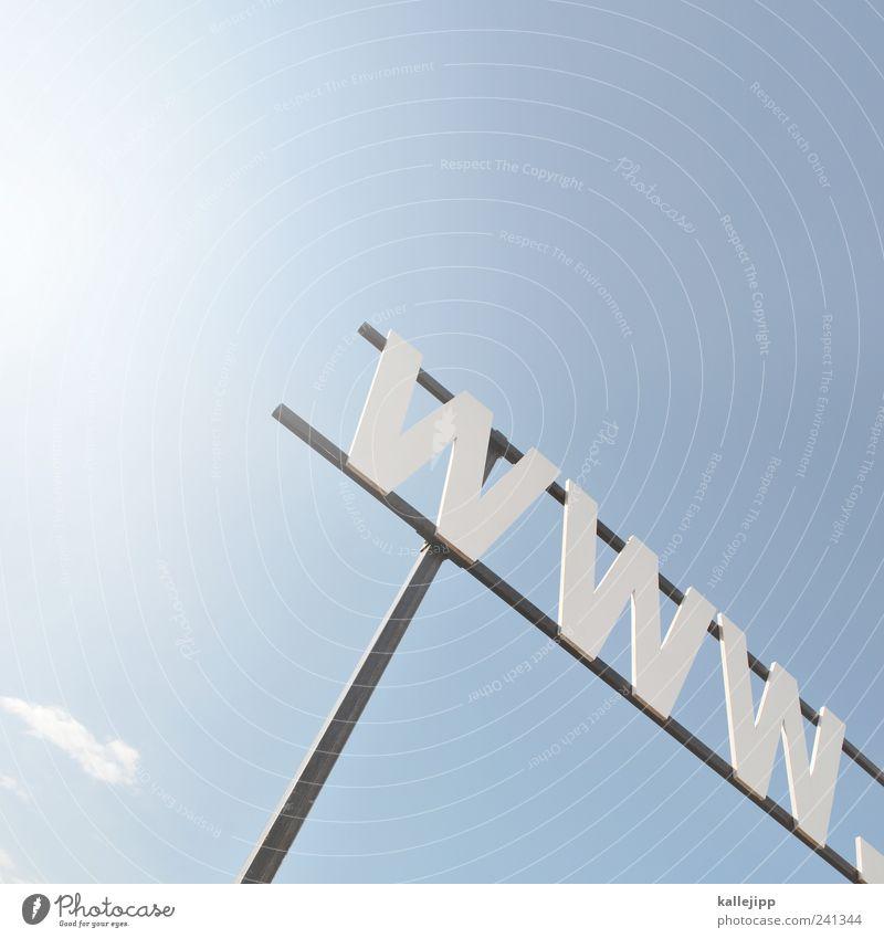 http:// Schriftzeichen Lifestyle Zukunft Netzwerk Technik & Technologie Internet Bildung Informationstechnologie Entwicklung Handel Wirtschaft himmelblau Fortschritt Computernetzwerk global weltweit
