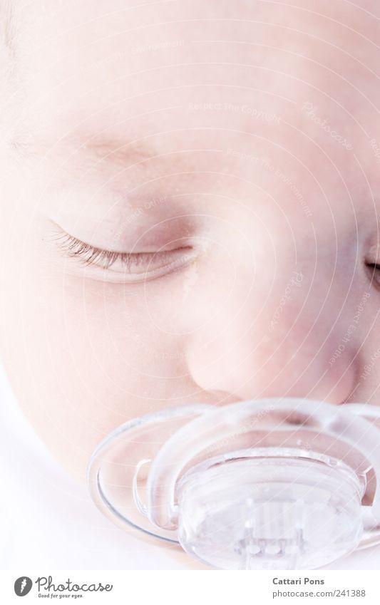 Schäfchen zählen Mensch Kind Baby Kindheit Leben Kopf 1 0-12 Monate Kunststoff Erholung liegen schlafen träumen nah natürlich neu niedlich Vertrauen Sicherheit