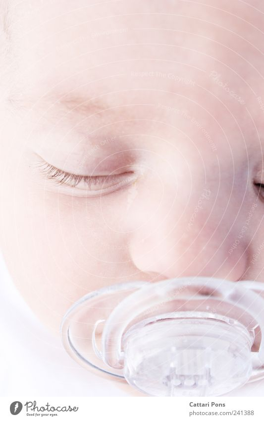Schäfchen zählen Mensch Kind ruhig Erholung Leben Kopf träumen hell Baby Kindheit liegen natürlich schlafen neu Sicherheit niedlich