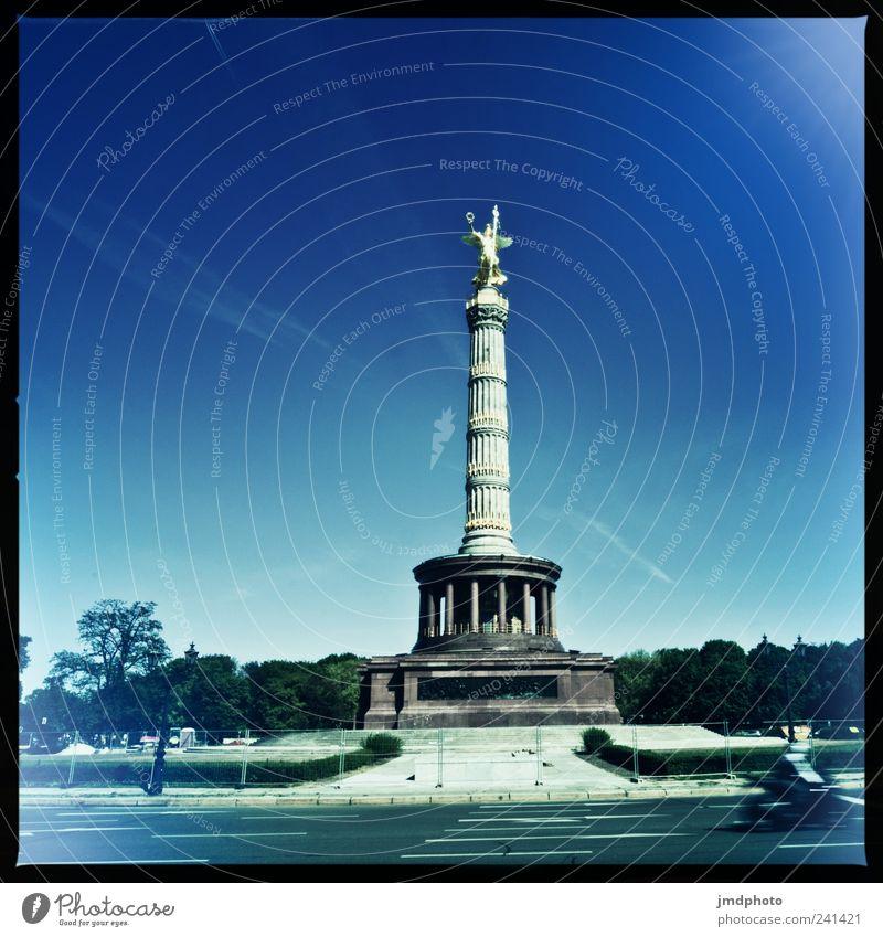 siegessäule alt Sommer Ferien & Urlaub & Reisen Berlin Freizeit & Hobby Ausflug groß Tourismus ästhetisch Macht Vergangenheit Denkmal historisch Krieg