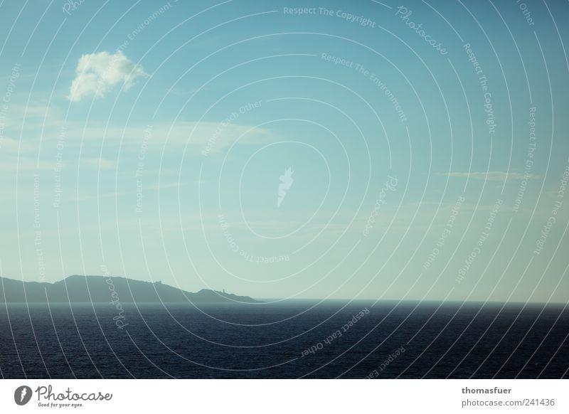 das Kap Landschaft Erde Luft Wasser Himmel Wolken Horizont Schönes Wetter Küste Meer Insel Ferne blau Sehnsucht Fernweh entdecken Stimmung
