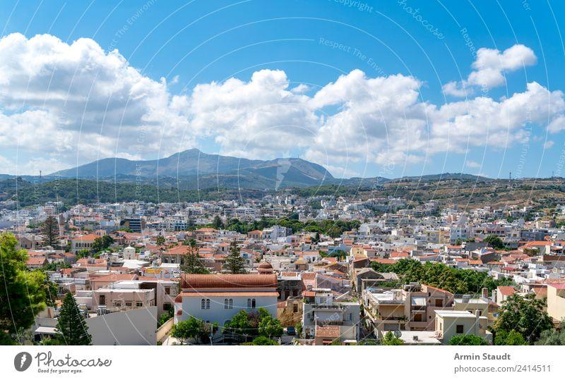 Rethymno Kreta Himmel Natur Ferien & Urlaub & Reisen Stadt Sonne Landschaft Haus Ferne Berge u. Gebirge Architektur Lifestyle Stil Tourismus Freiheit Stimmung