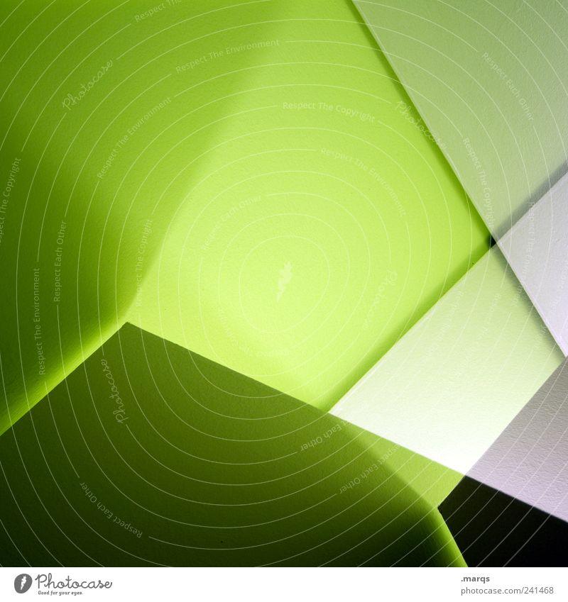 Blende grün Farbe Stil Linie Hintergrundbild Design elegant verrückt Lifestyle Perspektive modern Ordnung Dekoration & Verzierung rein einzigartig Innenarchitektur